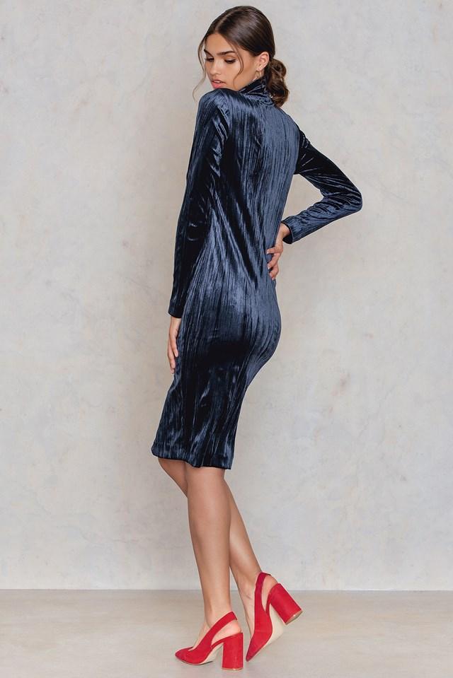 Ziva Zip Dress Dark Sapphire