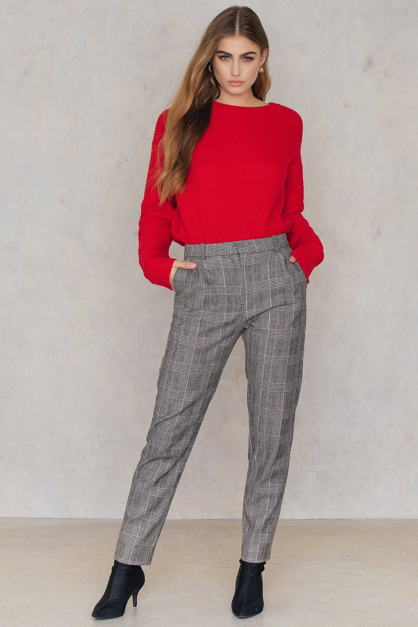 Black Red Ch Stamford Pants