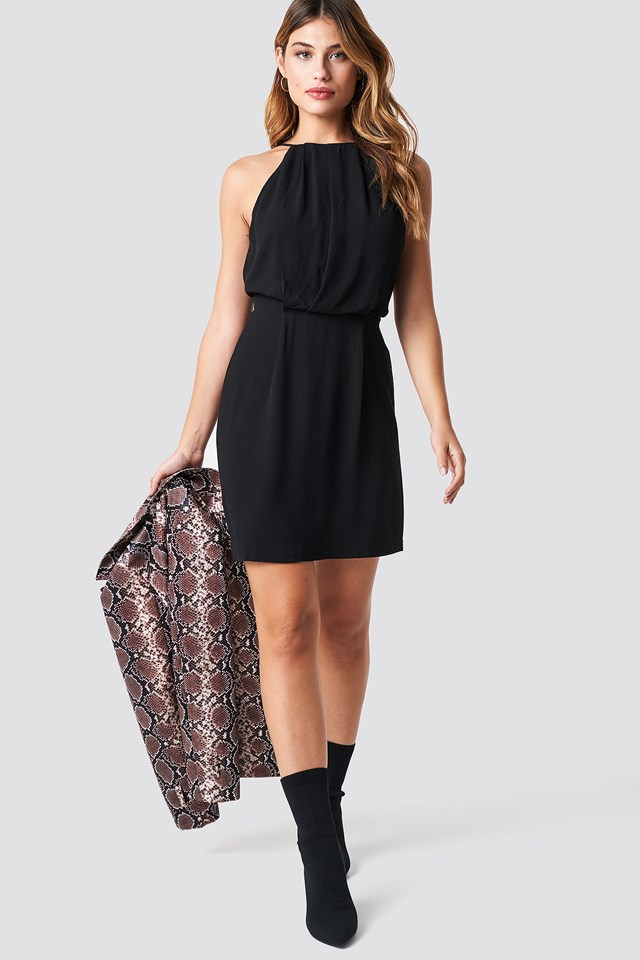 Willow Short Dress Black