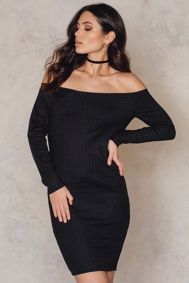 Off Shoulder Dress NA-KD.COM