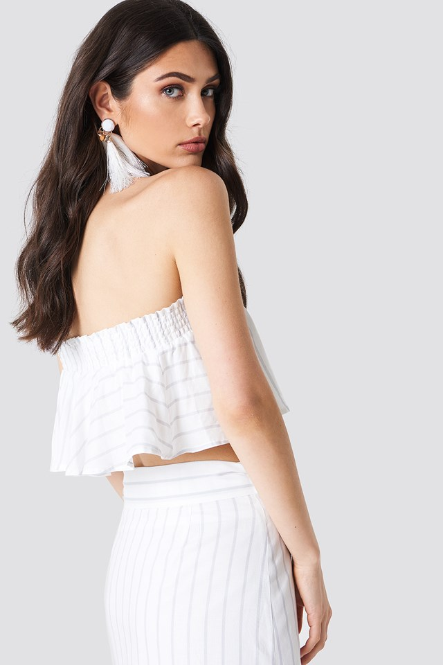 Bandeau Smock Top Striped
