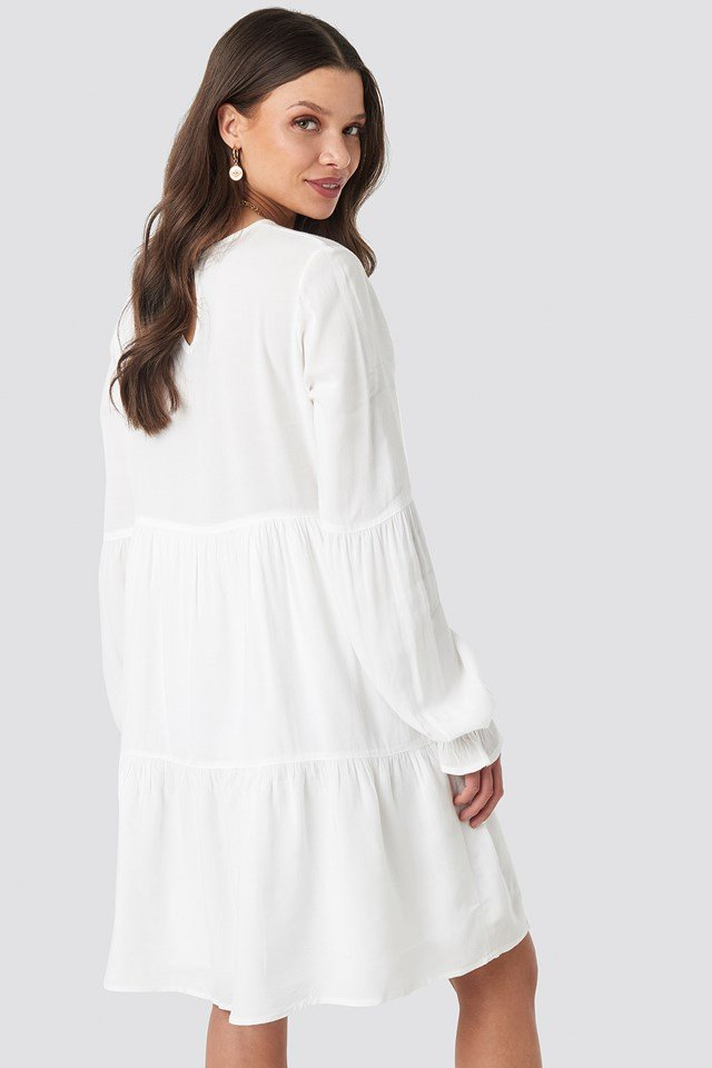 Basic Loose Fit Dress Off White