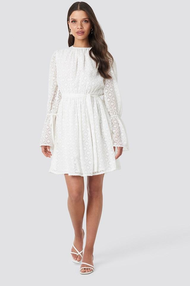 Bell Sleeve Flowy Mini Dress NA-KD.COM