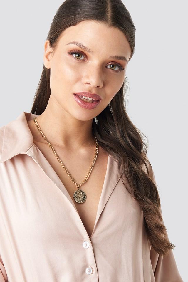 Hamsa Hand Necklace Gold
