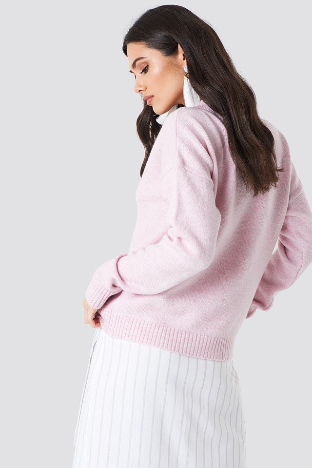 Light Oversized Knit Light Pink