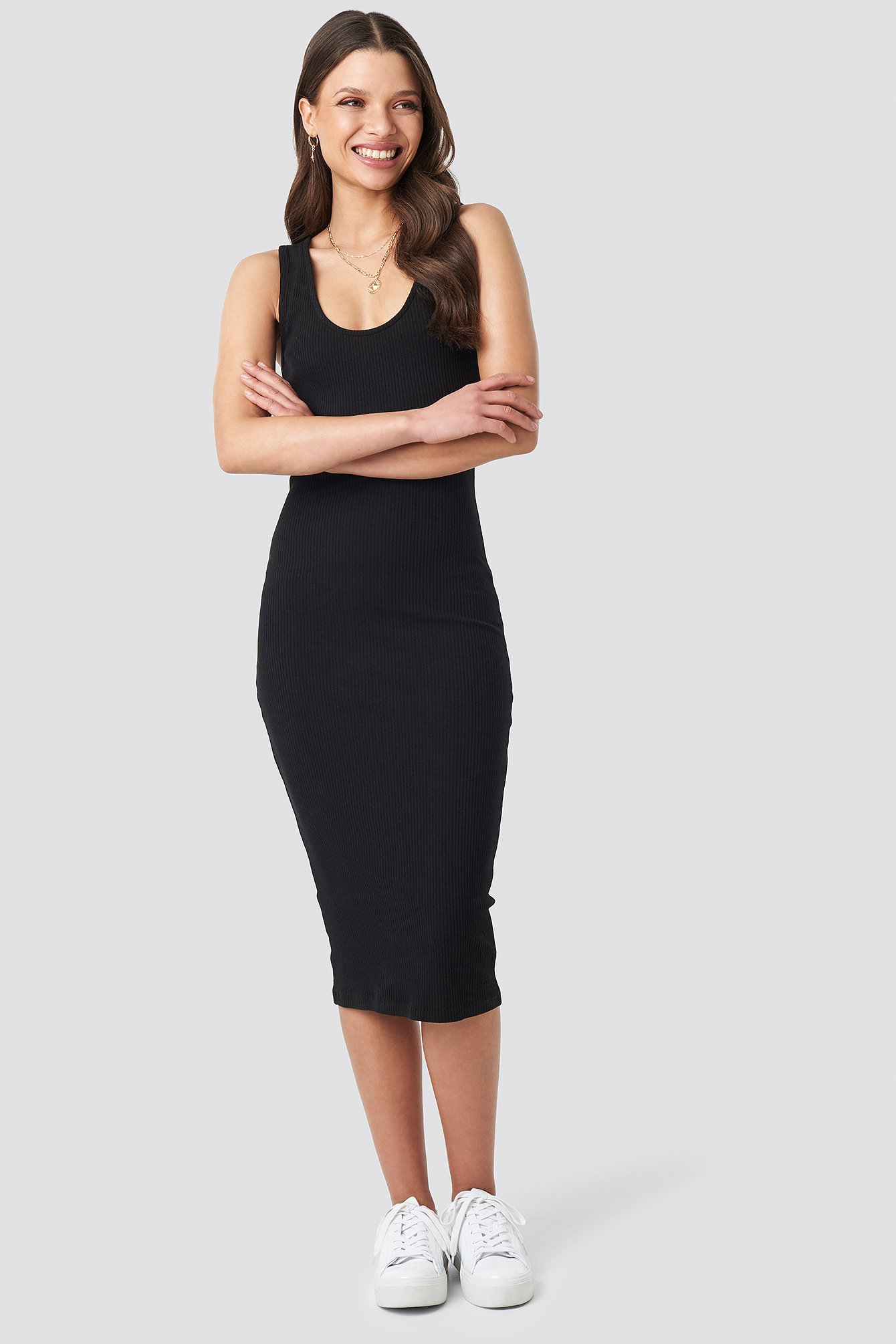 Ribbed Midi Dress NA-KD.COM