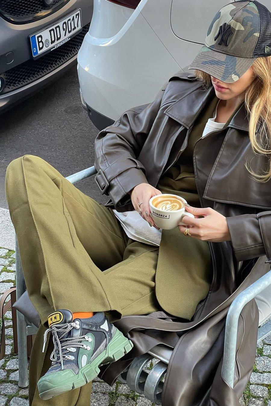 Khaoula x NA-KD Detaljerede bukser - Green