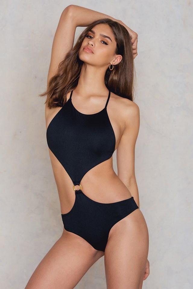 Yagoi One Piece Swimsuit Black