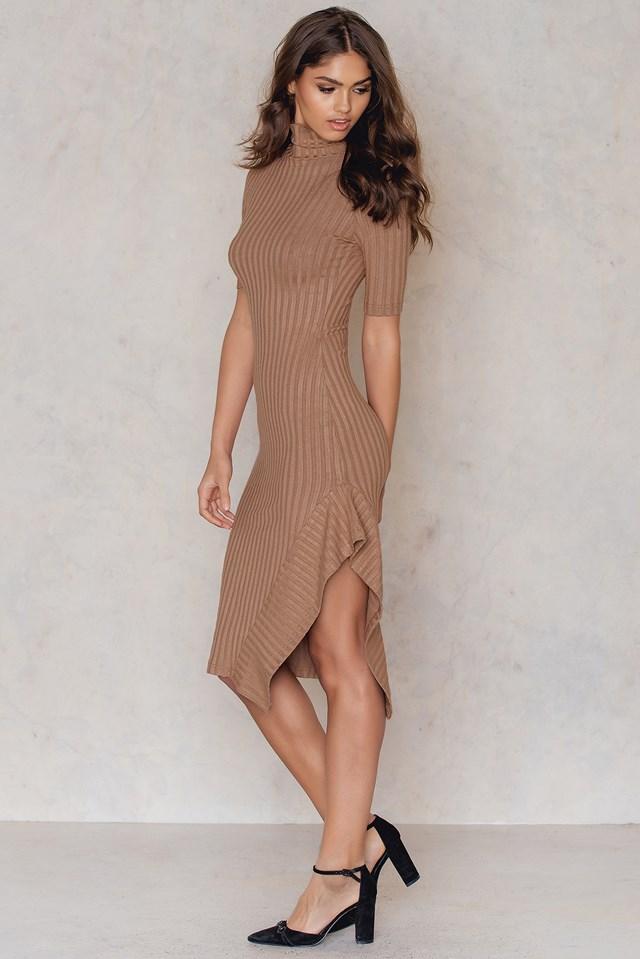Elen Dress Cognac