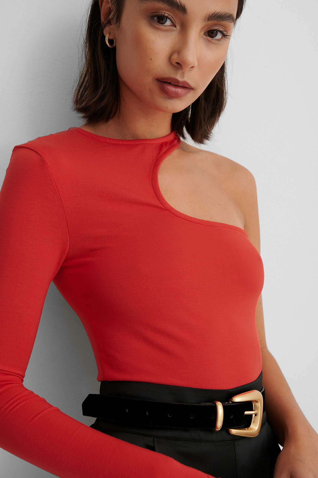 Red Cut Out Top