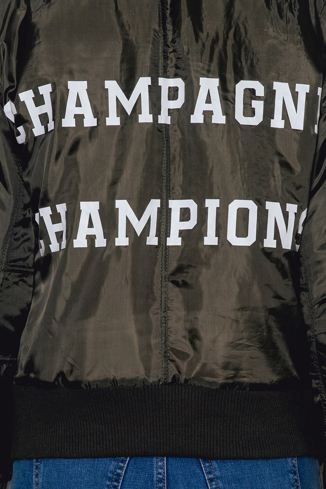 Champagne Champions Army Green