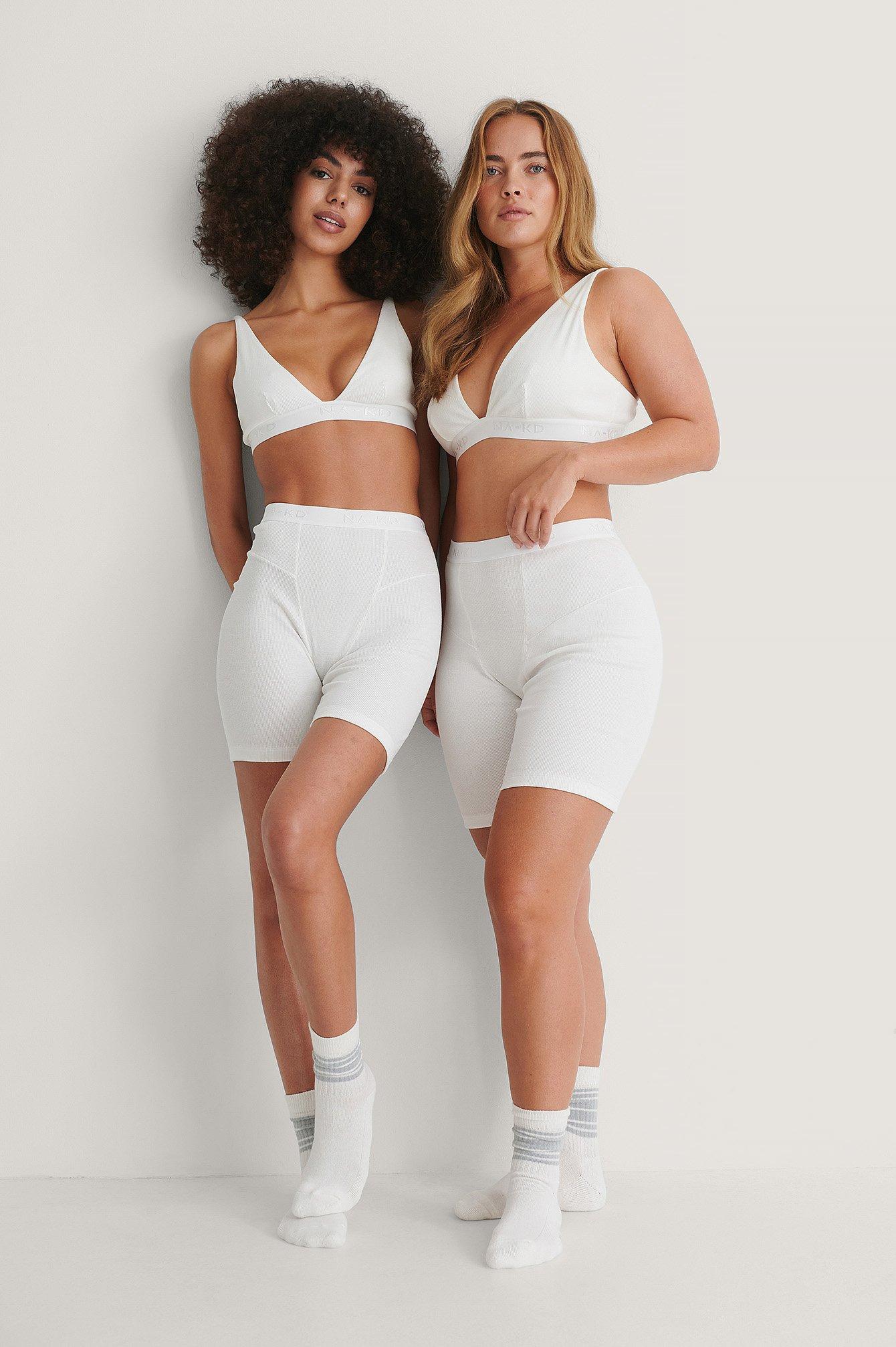 Hunkemöller x NA-KD Shorts - White