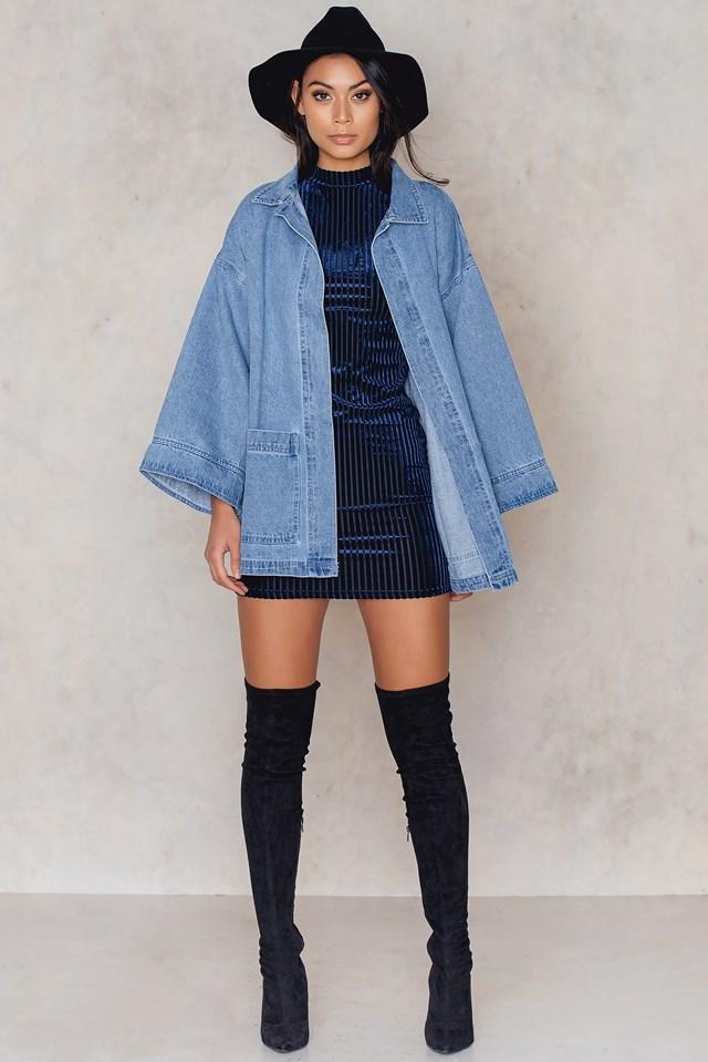 Sal Dress Deep Blue