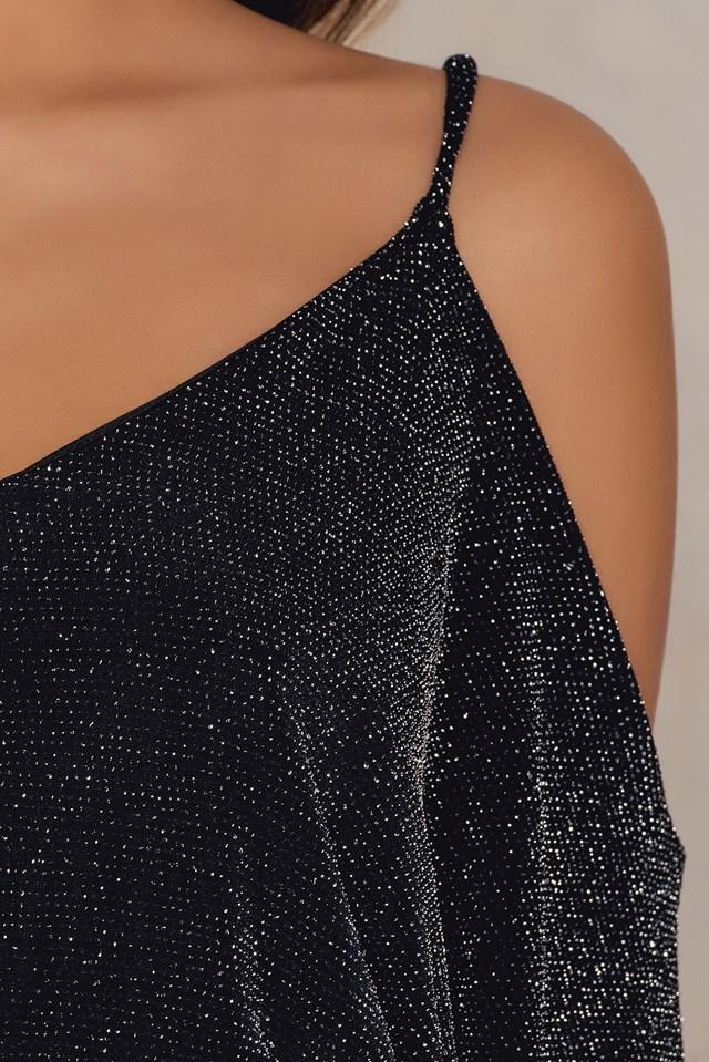 Shine Dress Black/Silver