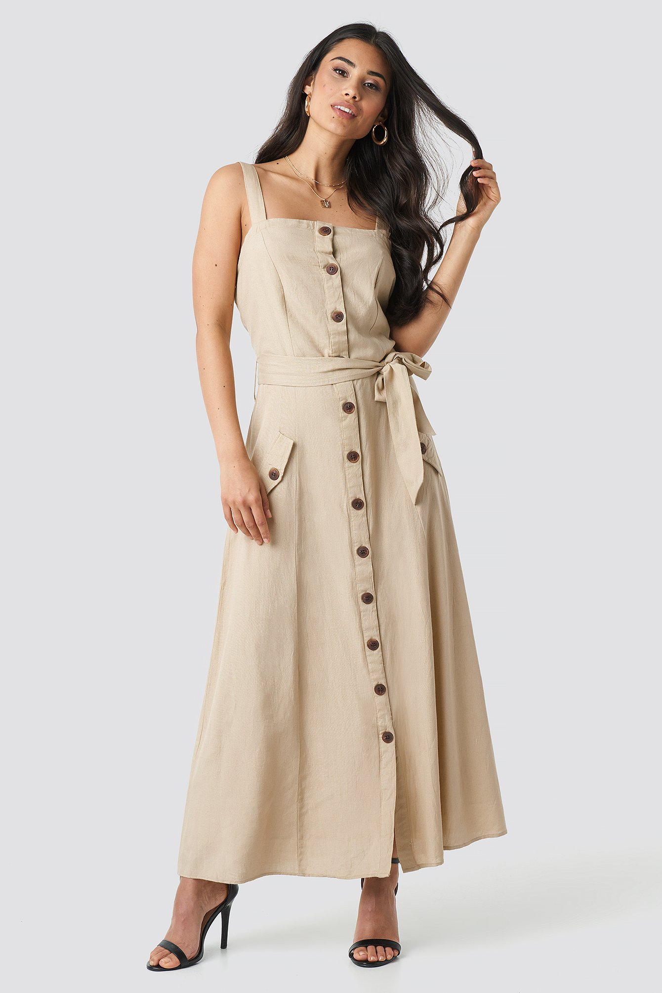 Sisters Point Bina Dress - Beige