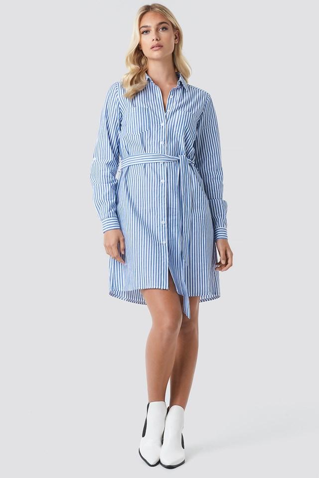Elbe Dress Blue/White