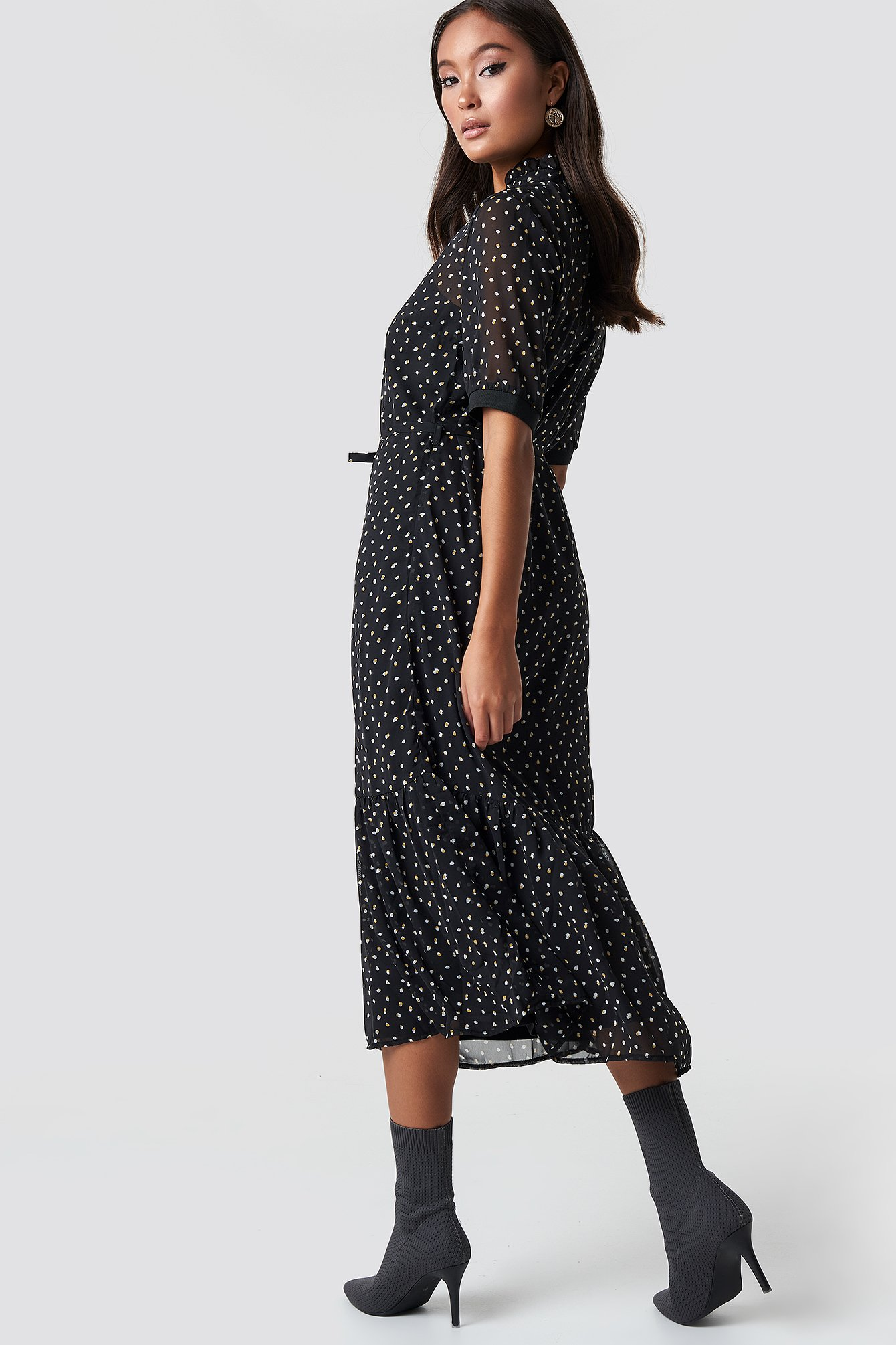 Black Dot Eliza Dress