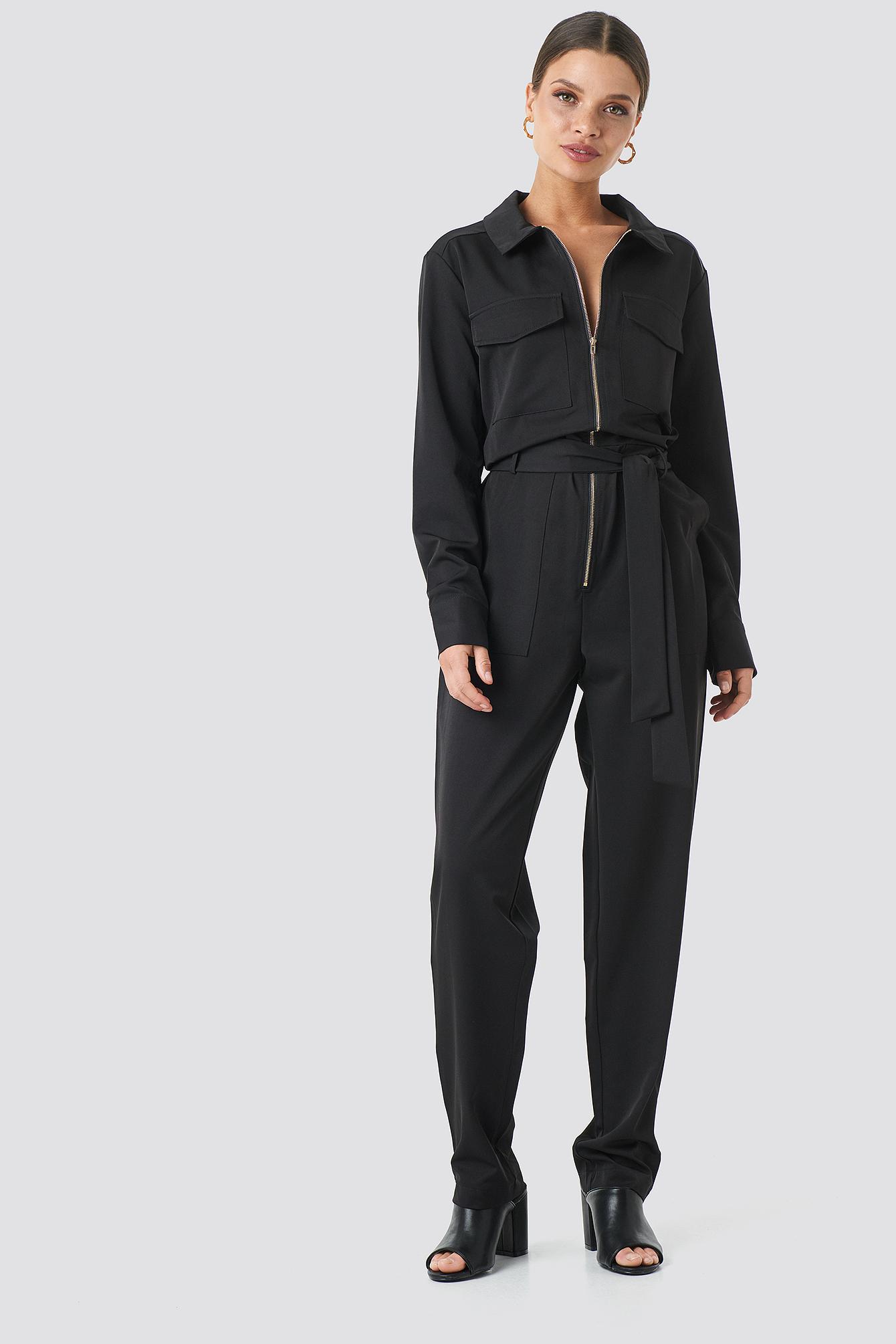 Sisters Point Emmi Jumpsuit - Black | Bekleidung > Homewear | Sisters Point