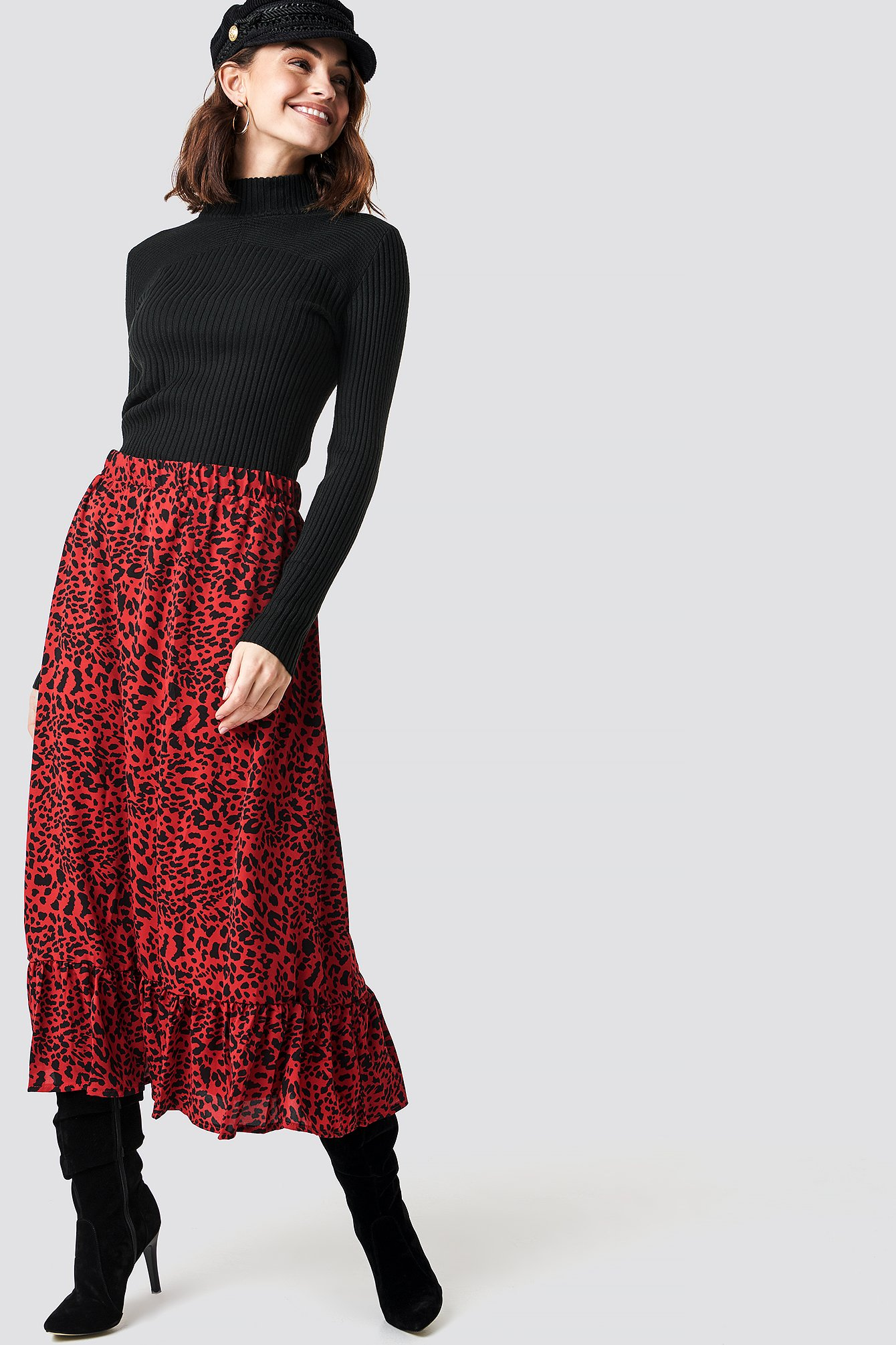 sisters point -  Emmy Midi Skirt - Red