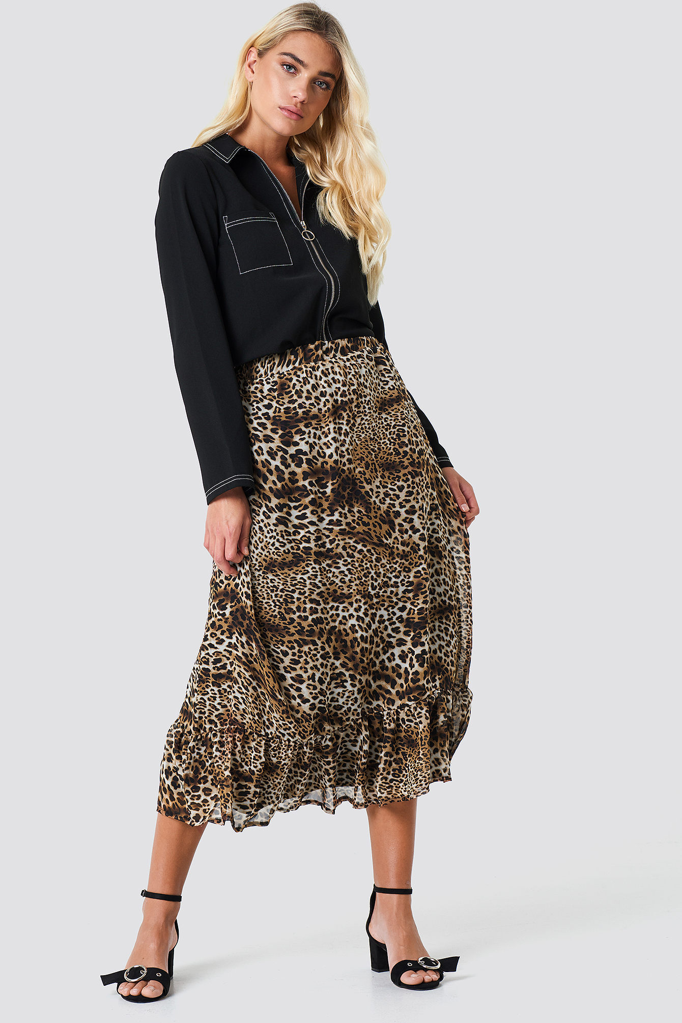 sisters point -  Emmy Skirt - Brown,Multicolor