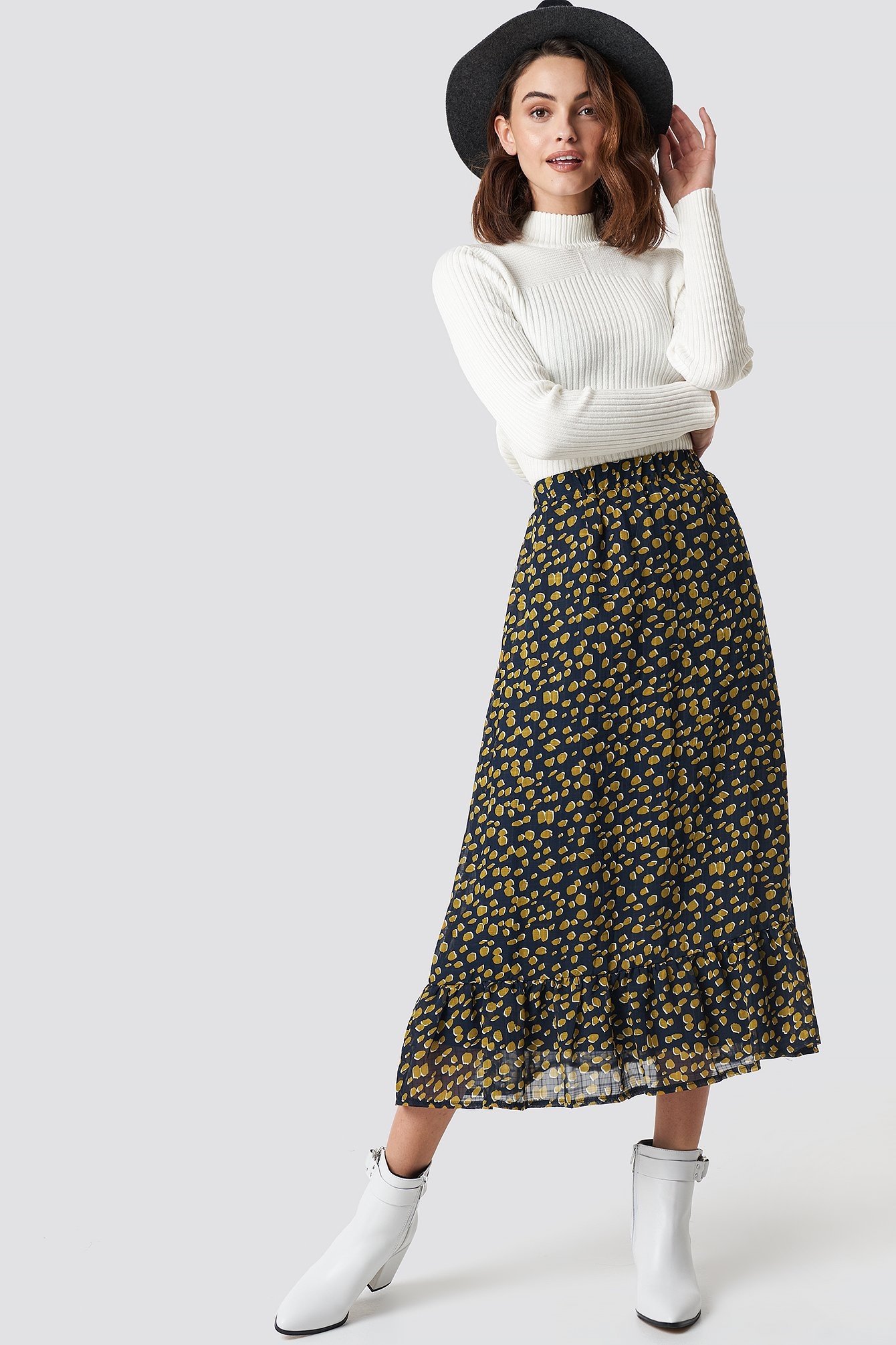 sisters point -  Emmy Skirt 6 - Navy,Yellow