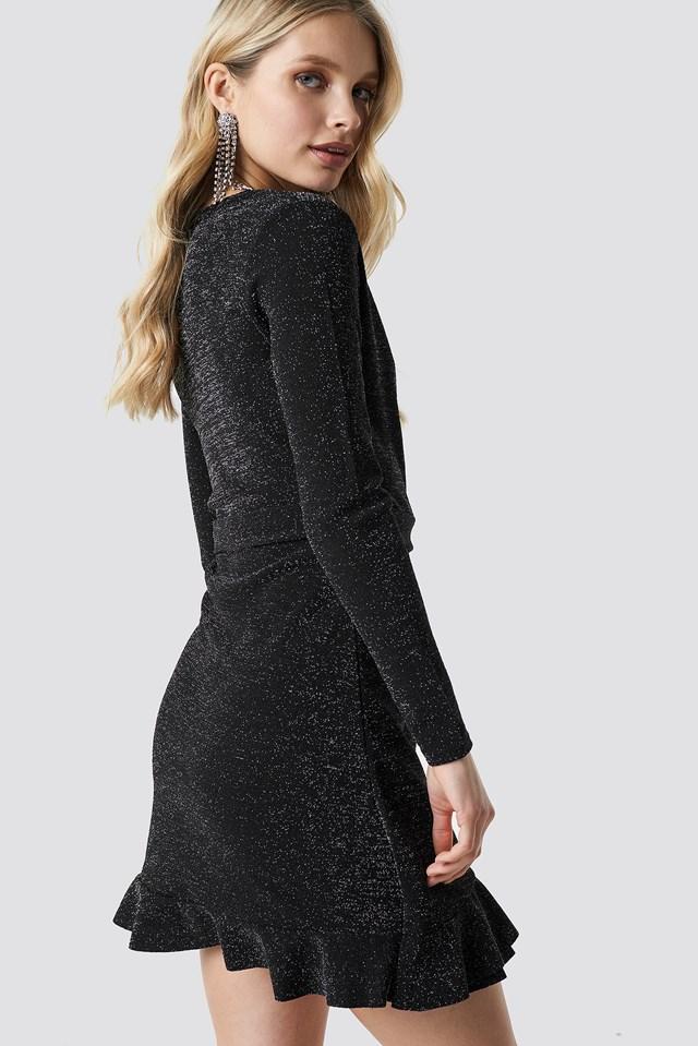 Erna Dress Black/Silver