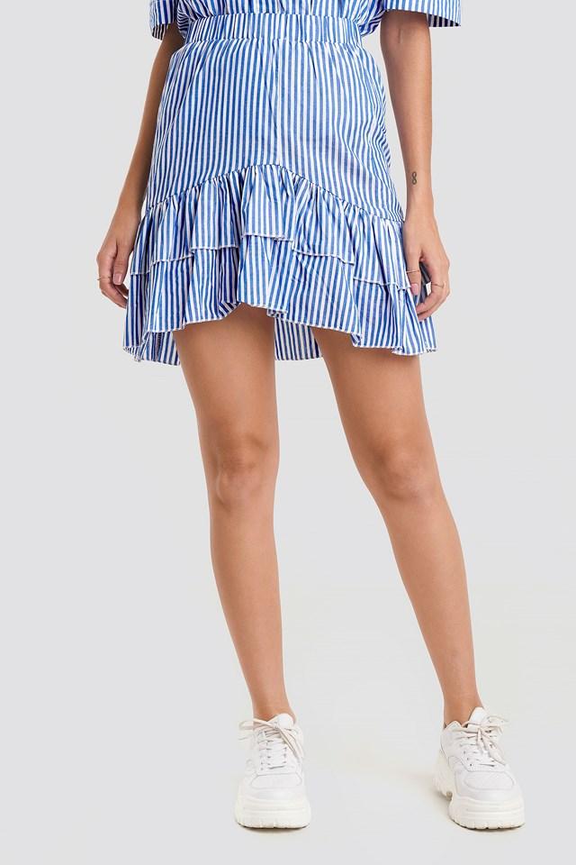 Erub Skirt White/Blue