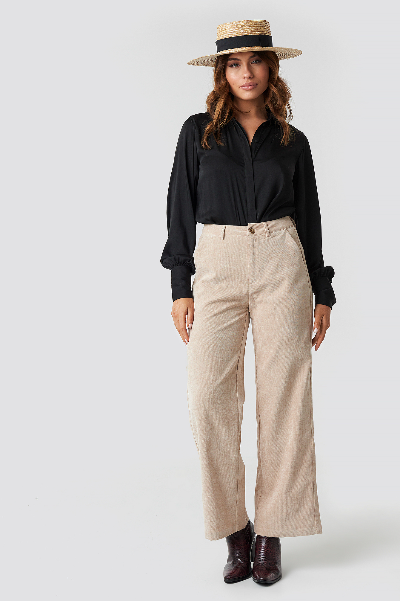 sisters point -  Ester Pants - Beige