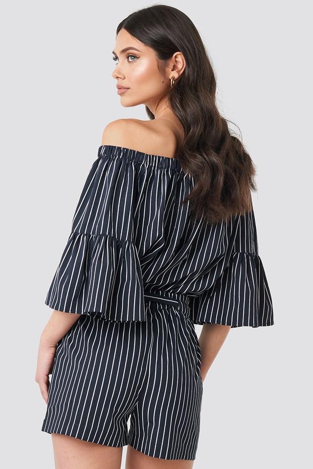 Fatima Stripe Shorts Blue/White Stripe