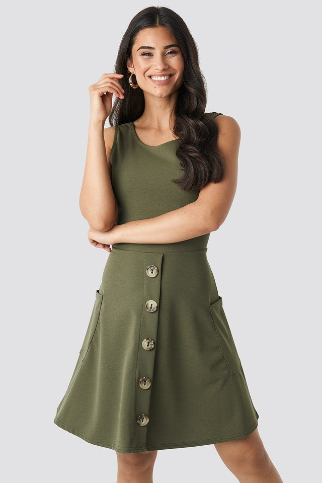 Gerd Dress Light Khaki