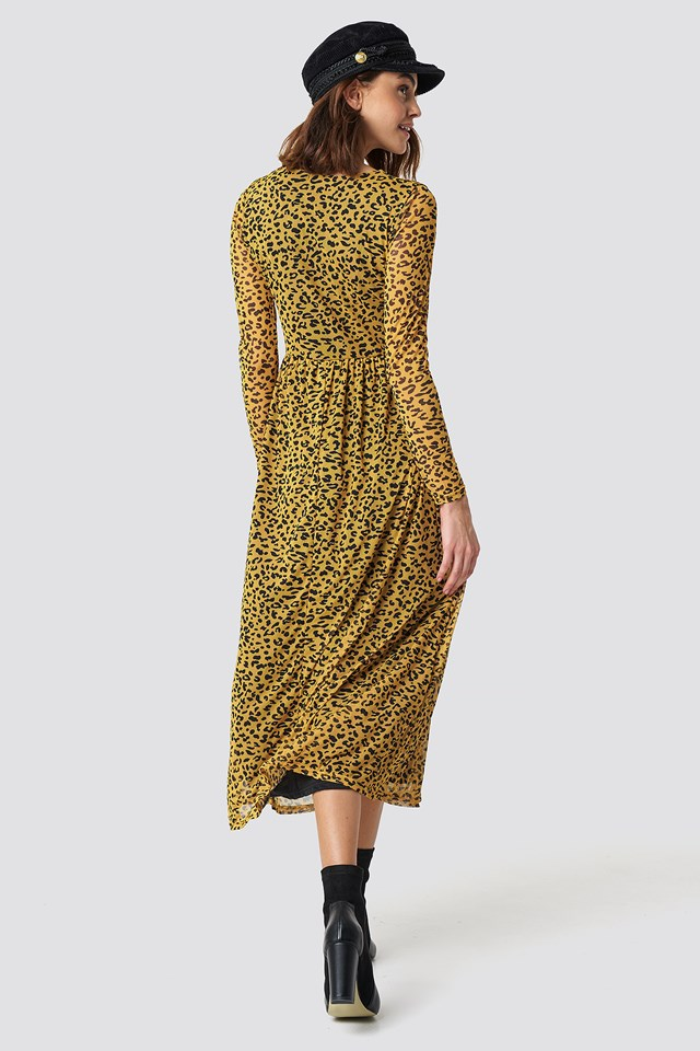 Gia Long Dress Leo/Mustard