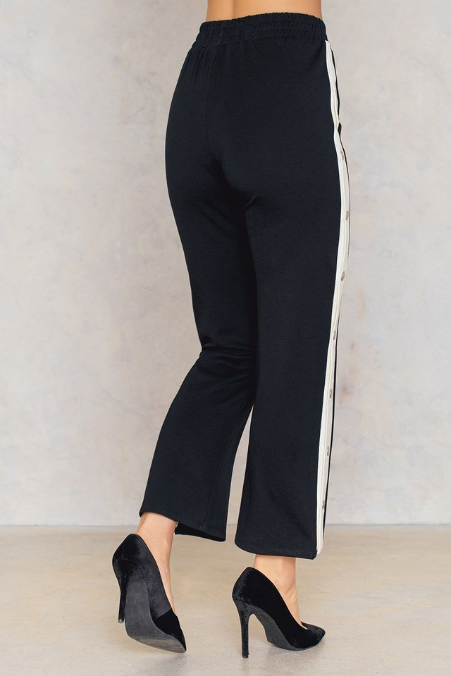 Glen Pants Black/Creme
