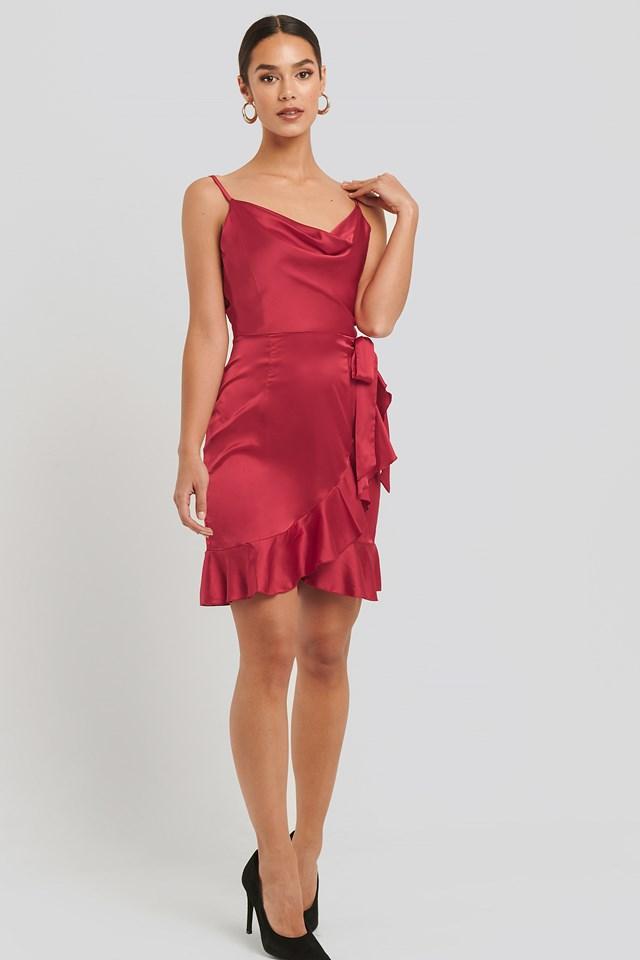 Glossy Dress Berry