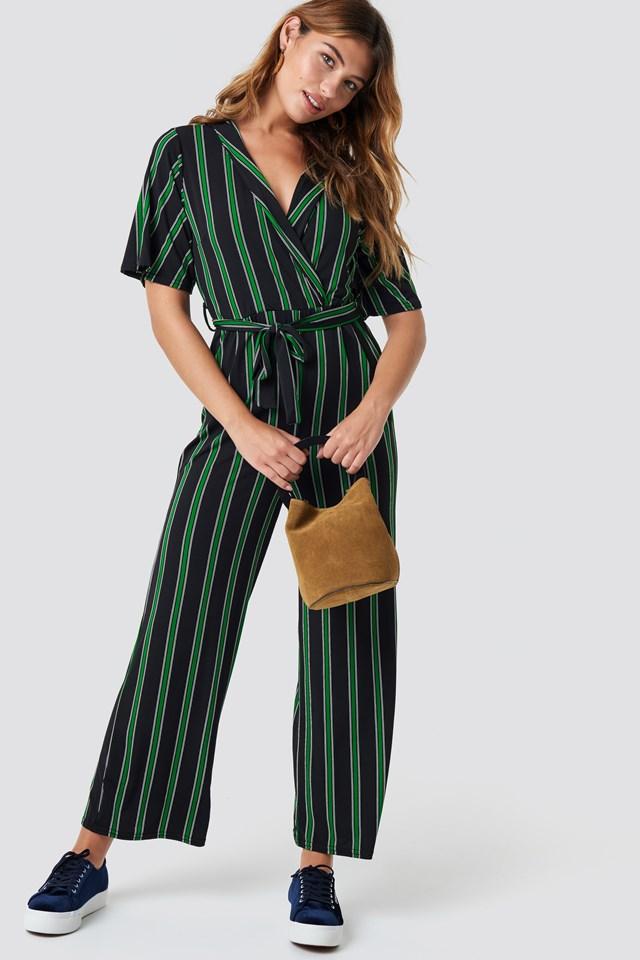 Gluto Jumpsuit Black/Green
