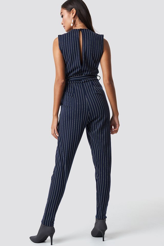 Greb Jumpsuit 3 Navy/Cream Stripes