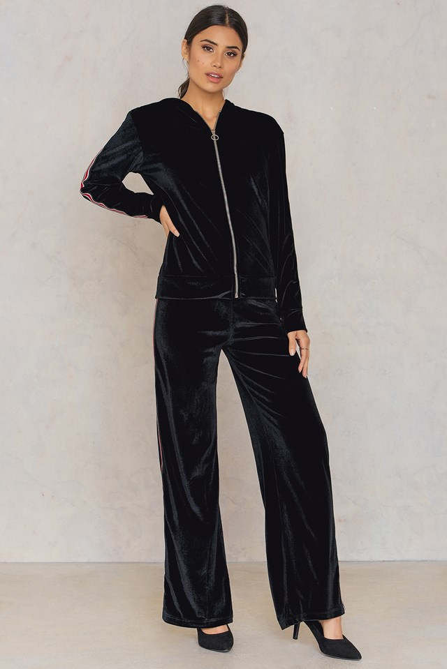 Gro Pants Black/Stripe