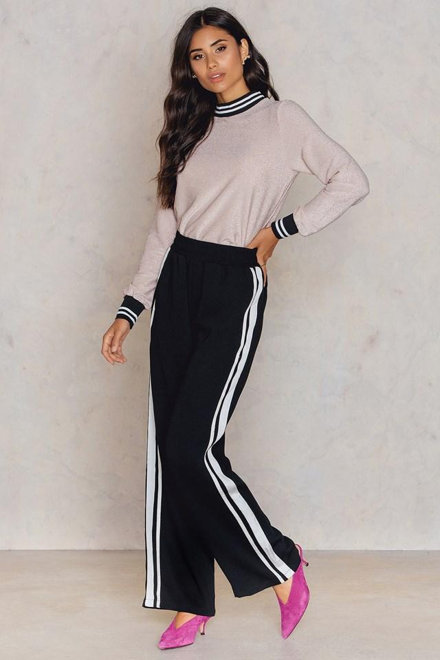 Gruso Pants Black/White