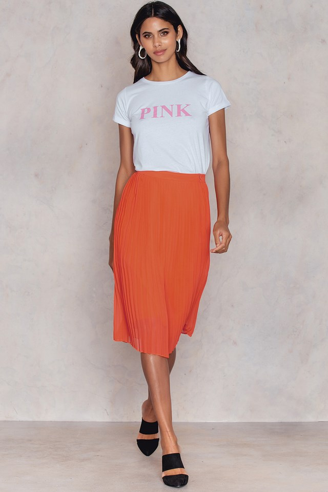 Herm T-Shirt White/Pink
