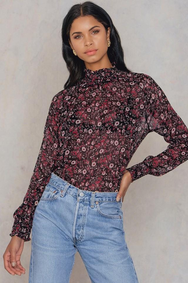 Iva Shirt Black/Red Flower