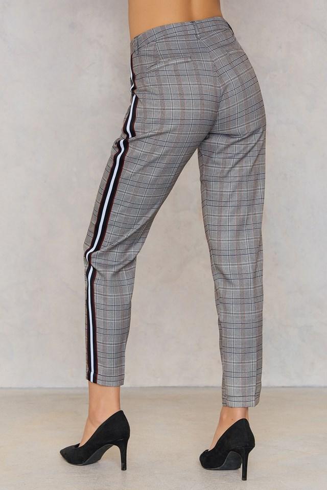 Spodnie Larna Check/Stripe