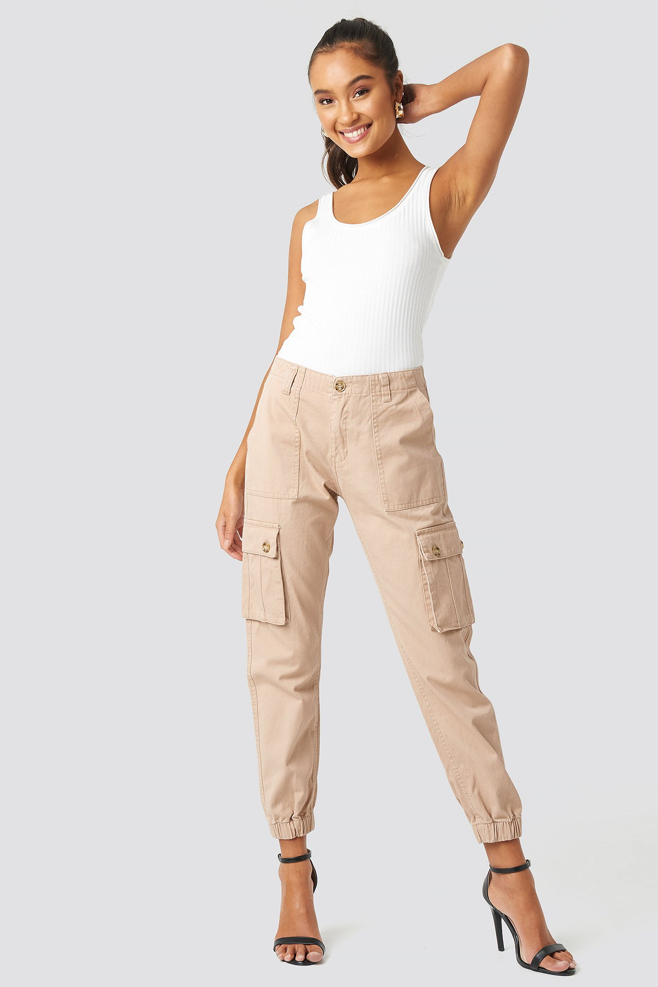 sisters point -  Leca Pants - Beige,Nude