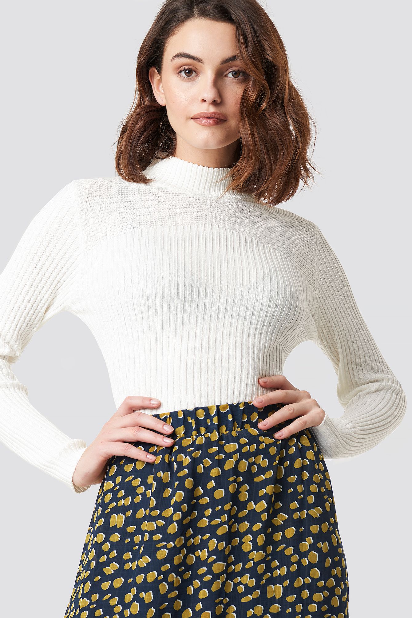 sisters point -  Leni Turtleneck Sweater - Offwhite
