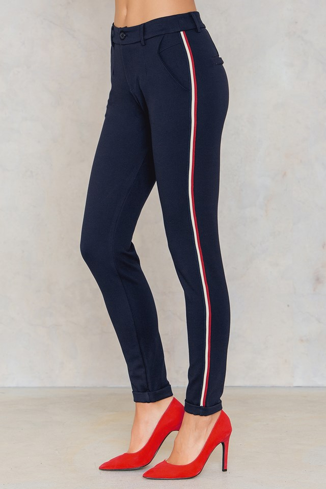 New George 1 Pants Navy/Cream/Red