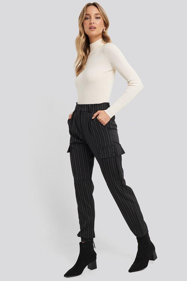 Nia Pants Black/Cream