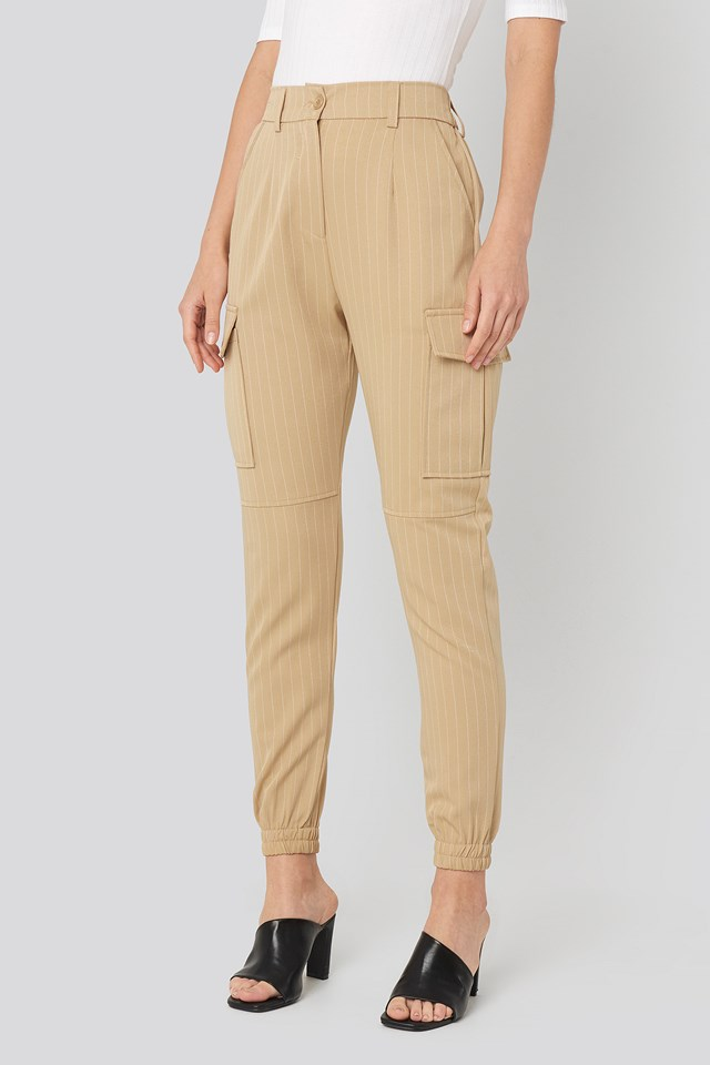 Nia Pants Camel/Cream