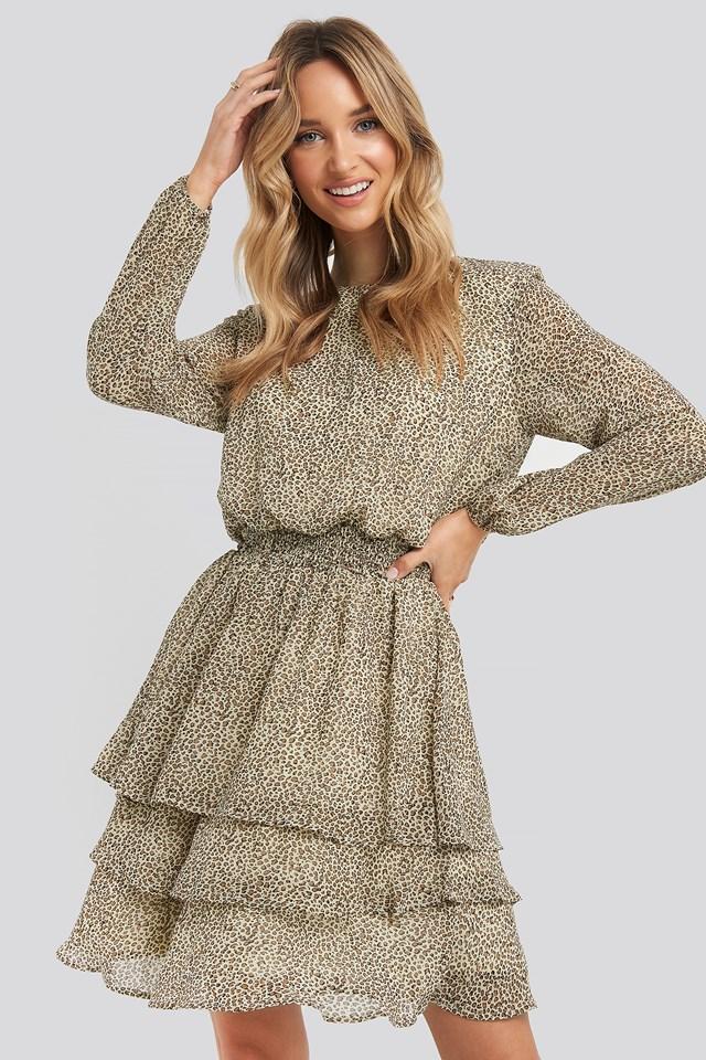 Nicoline-LS4 Dress Camel/Stone