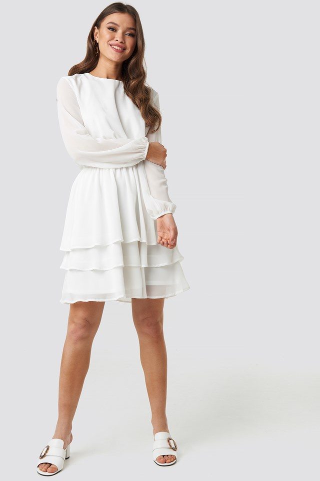 Nicoline Ls A Dress Cream