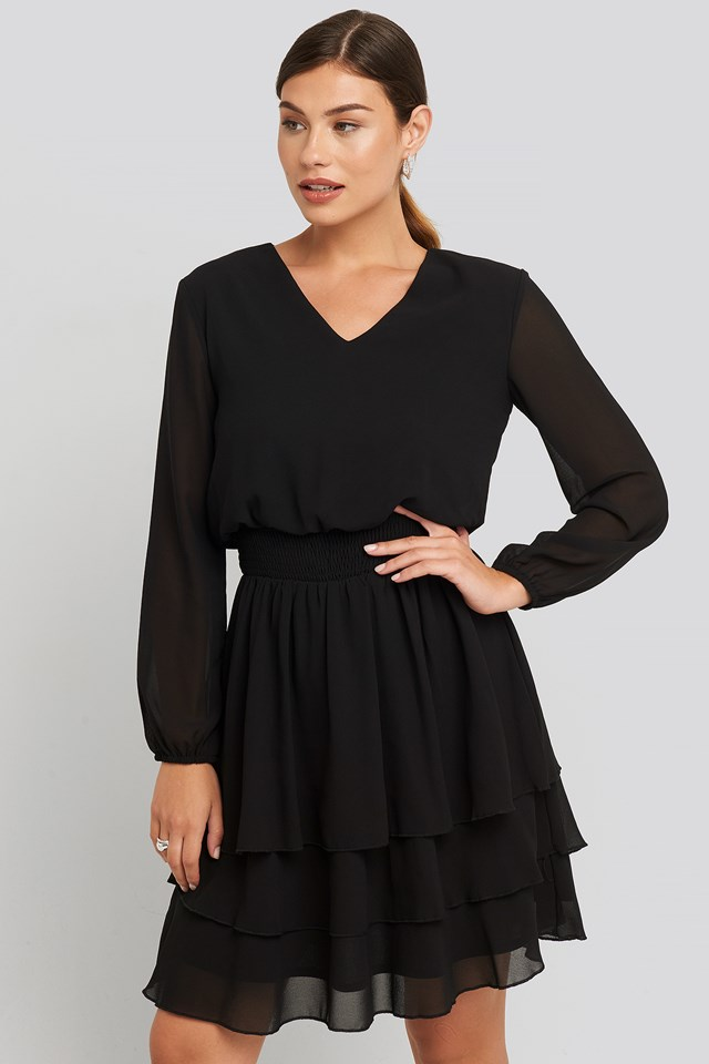 Nicoline-V Dress Black