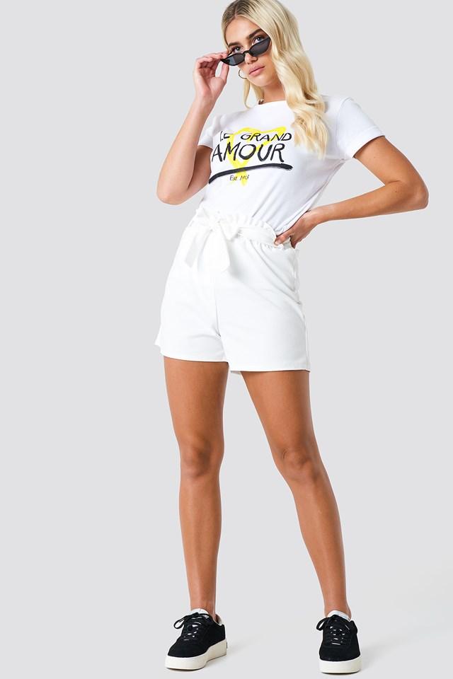 Noto Shorts White
