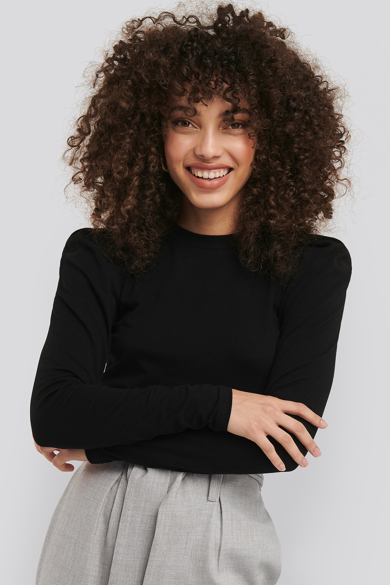 Sisters Point Perle LS Top - Black